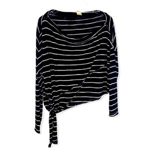 We the Free striped cropped tie top